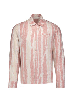 Long Sleeve Camp Shirt Pink Forest