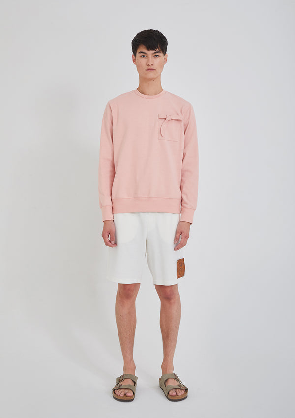 Sweatshirt with Tie Pink