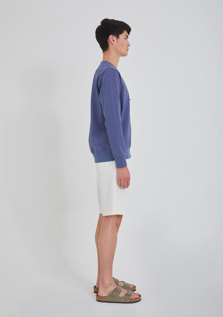 Sweatshirt with Tie Blue