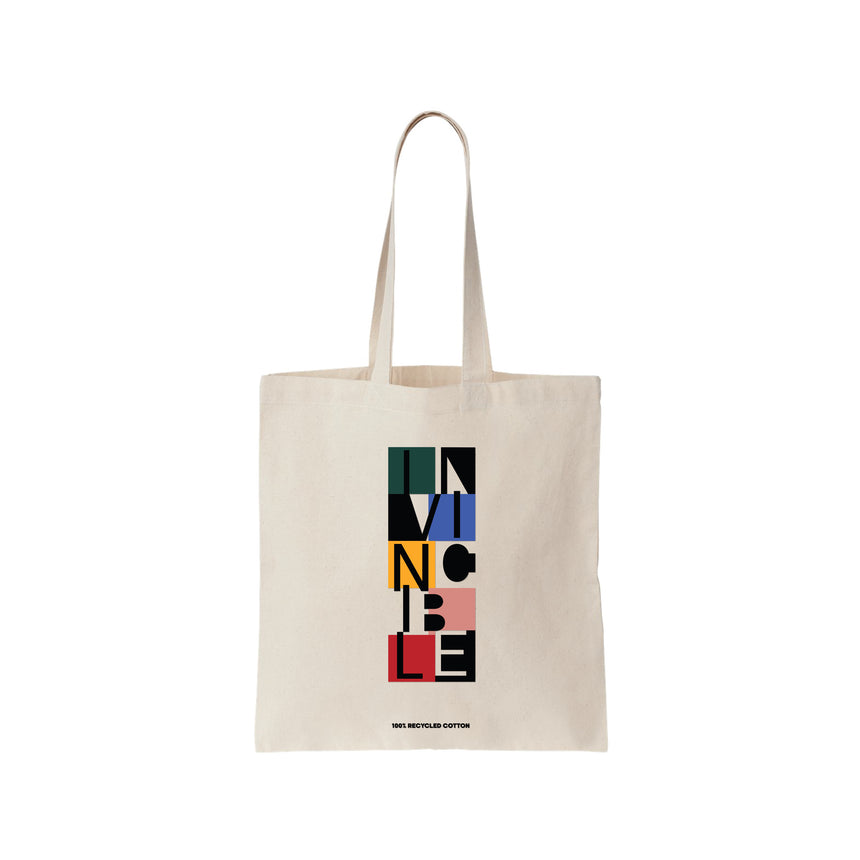 INVINCIBLE SHOPPING TOTE BAG