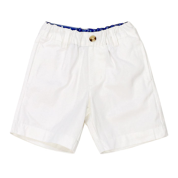 J. Bailey- White Twill Shorts