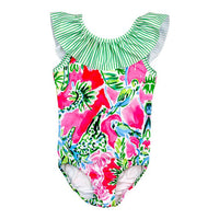 J. Bailey- Garden Print 1PC Spandex Swimsuit