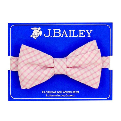 J. Bailey- Pink Windowpane Bow Tie