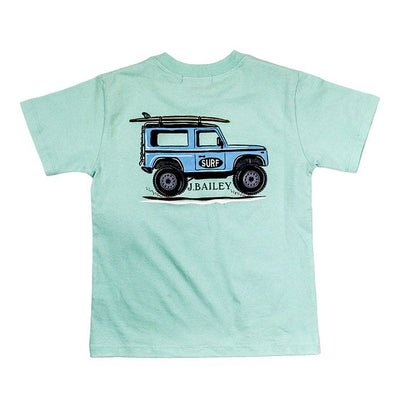 J. Bailey- Jeep on Seaglass Logo Tee