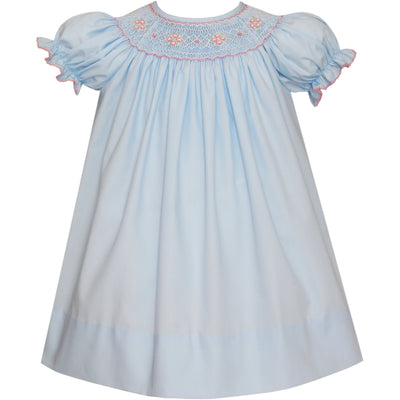 Petit Bebe- Ava Lt Blue Poplin Bishop