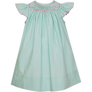 Petit Bebe- Katie Mint Poplin Angel Wing Bishop