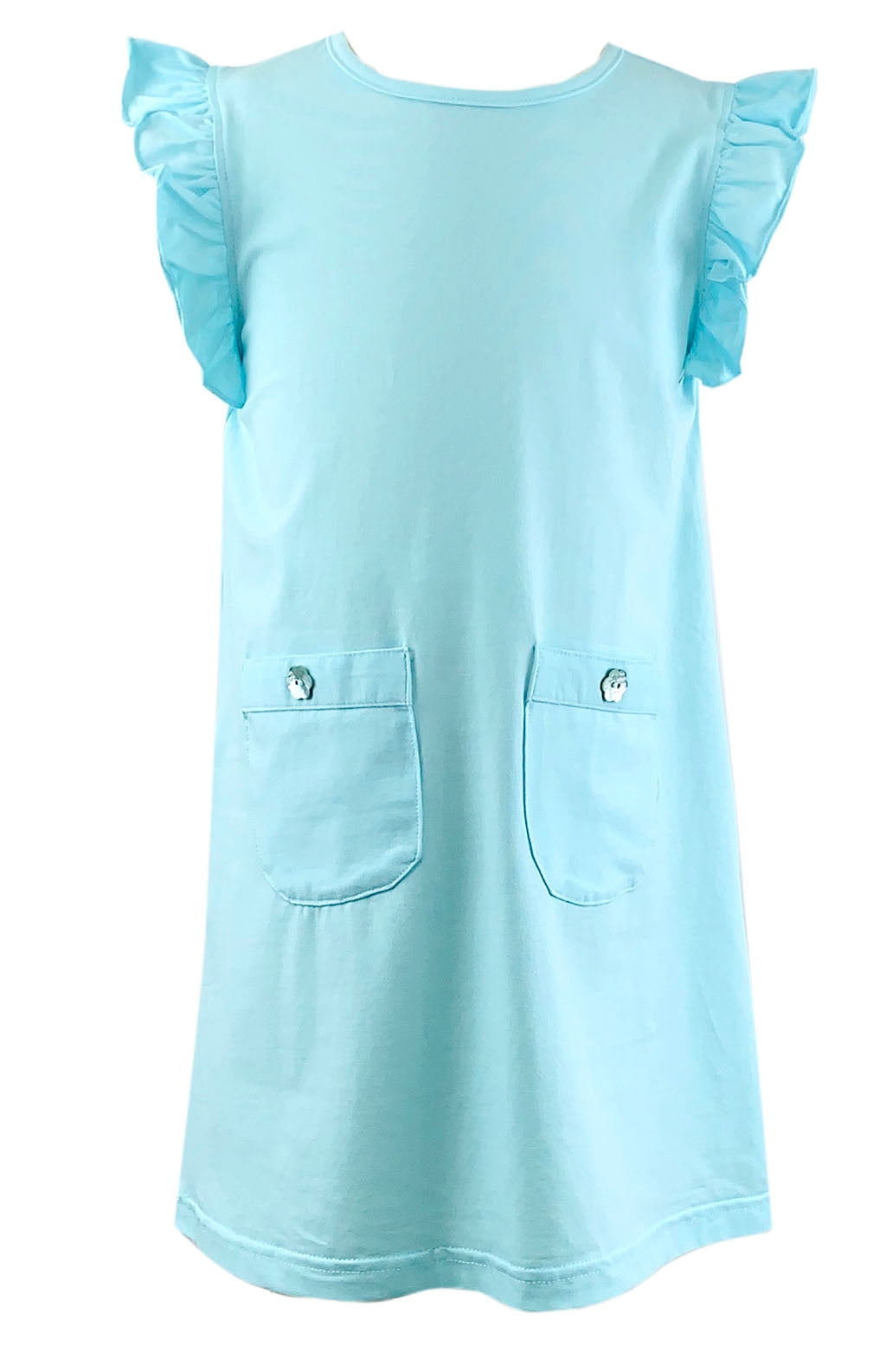 Just Blanks- Aqua A-line Dress