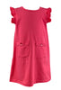 Just Blanks- Coral A-line Dress
