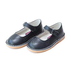 L'amour Classic Stitch Navy Leather Maryjane
