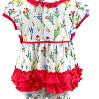 Tara Collection- Wildflower Girl Romper