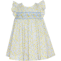 Anavini- Amber Blue & Yellow Liberty Floral Bloomer Set