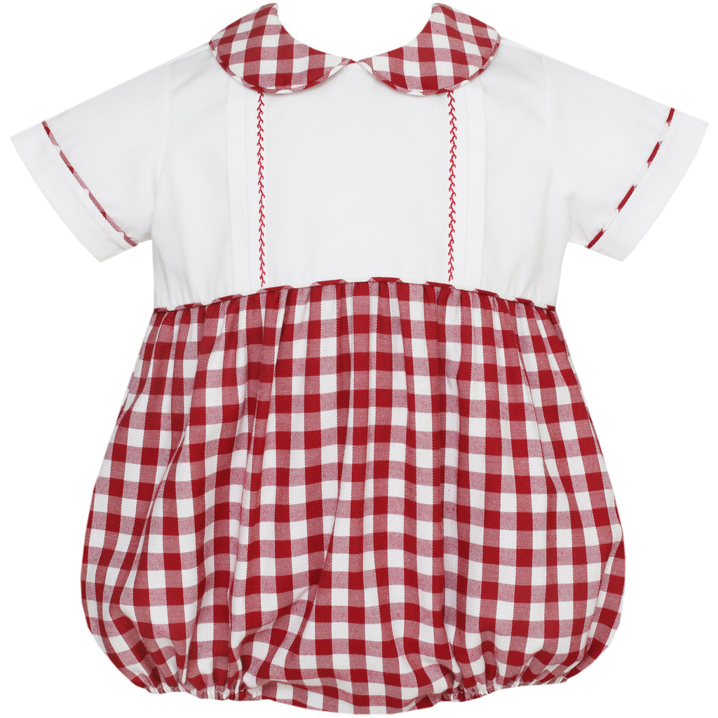 Claire & Charlie- Red Gingham Bubble