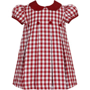 Claire & Charlie- Red Gingham A-line Dress