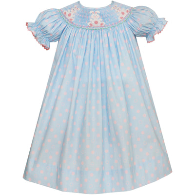 Anavini- Bunny Lt Blue w/Pink Dots Bishop