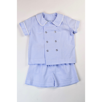 Funtasia Too- Blue Stripe Double Breasted Boys Set