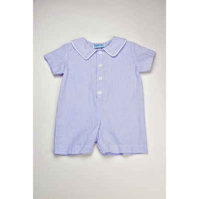 Funtasia Too- Blue Stripe Boys Romper