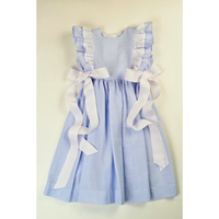 Funtasia Too- Blue Stripe Pinafore Dress