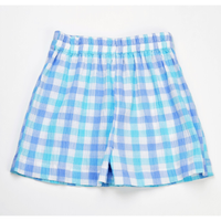 Funtasia Too- Aqua/Blue Polo Short Set