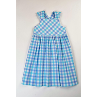 Funtasia Too- Aqua/Blue Check Ruffle Sundress