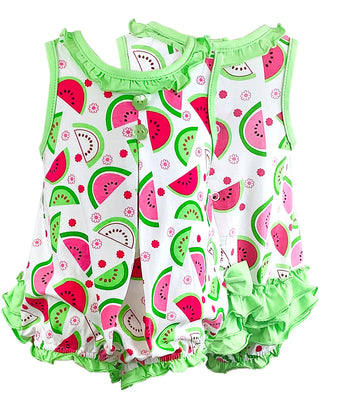 Tara Collection- Watermelon Girl Romper