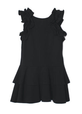 Isobella & Chloe- Black Sunny Smile Ruffle Dress