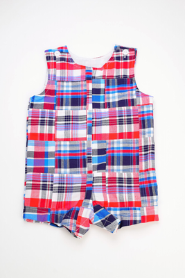 Funtasia Too- Flag Patchwork Shortall