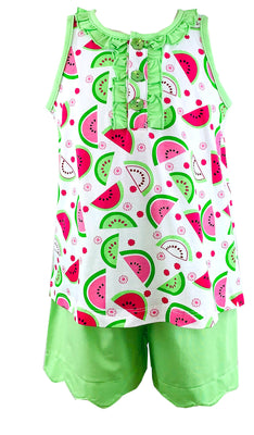 Tara Collection- Watermelon Shorts Set