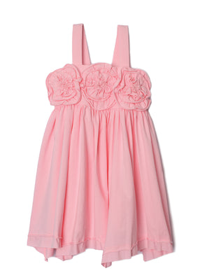 Isobella & Chloe- Pink Flora Rose Bodice Dance Dress