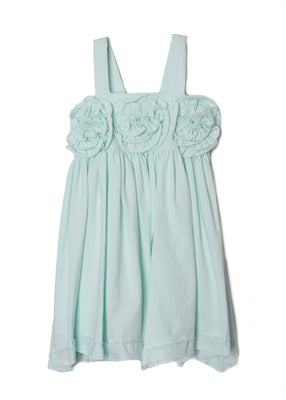 Isobella & Chloe- Lt Blue Flora Rose Bodice Dance Dress