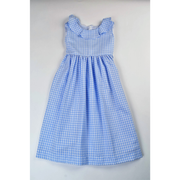 Maggie Breen- Blue Check Waistline Dress