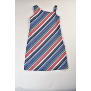 Maggie Breen- Multi Stripe One Shoulder Dress
