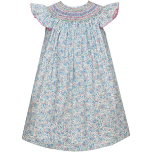 Anavini- Lt Blue Liberty Floral Bishop
