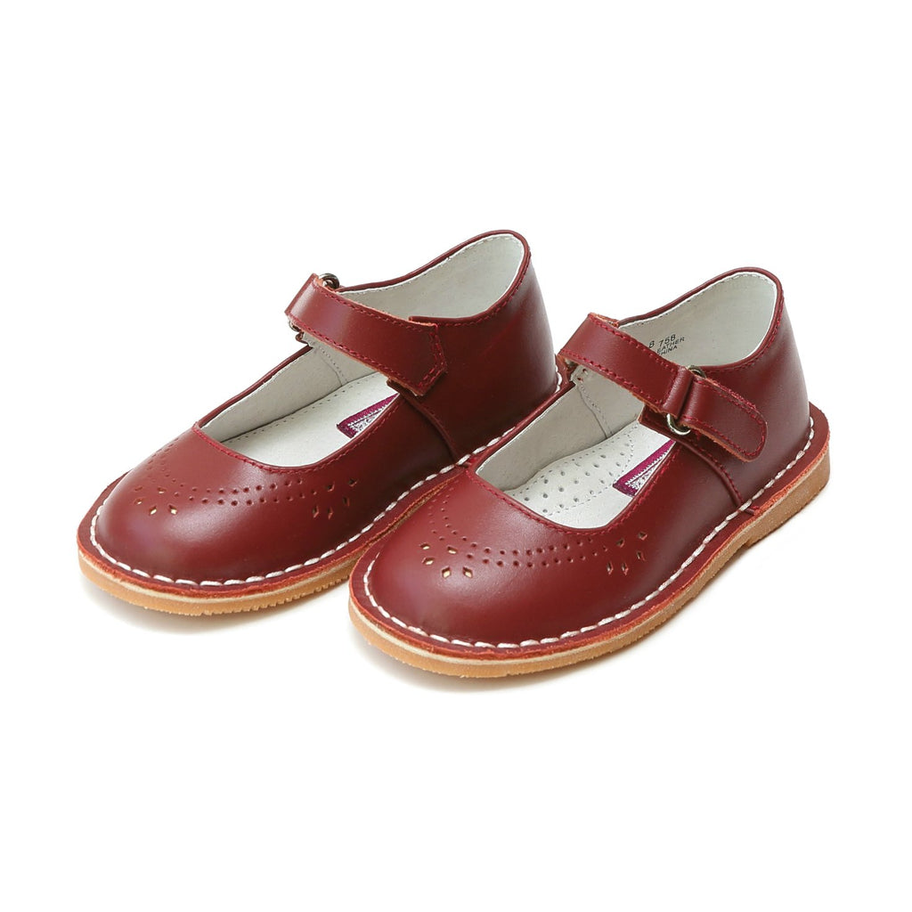 L'amour Classic Stitch Red Leather Maryjane
