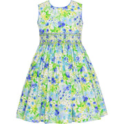Anavini- Mary Blue Floral Sundress