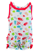 Tara Collection- Fish Girl's Romper