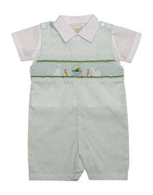 Carriage Boutique- Blue Bunny Jon Jon Set