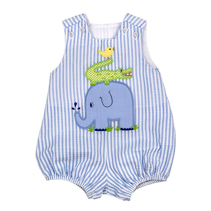 Bailey Boys- Springtime Friends Short Infant Bubble