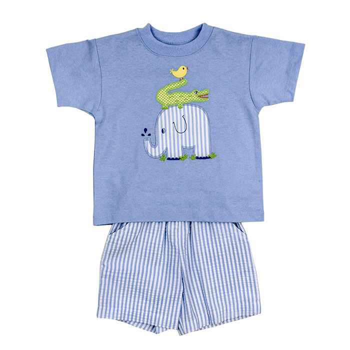 Bailey Boys- Springtime Friends Boy's Short Set