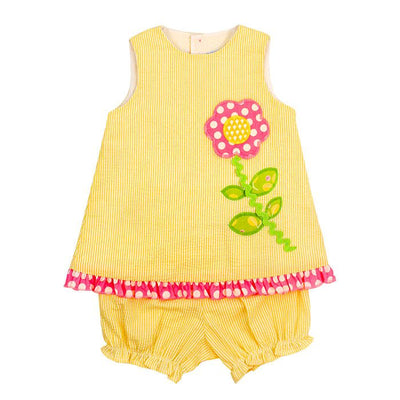 Bailey Boys- Large Flower Criss Cross Bloomer Set