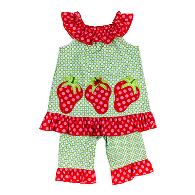 Bailey Boys- Berry Time Capri Set