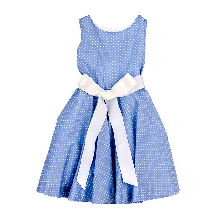 Bailey Boys- Flirty Blue Dot Dress
