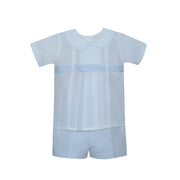 Lullaby Set- Benton Blue/White Short Set