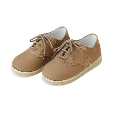 L'amour Boys Nubuck Khaki Saddle Oxford Shoe