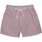 Monday's Child- Red Stripe Seersucker Swimtrunk