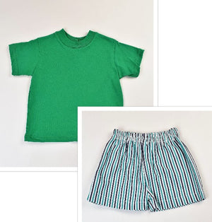 Funtasia Too- Green Stripe Short Set