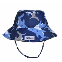 Flap Happy- Happy Sharks Bucket Hat w/UPF 50+