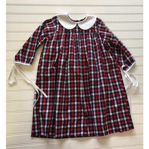 Phoenix & Ren- Red Plaid Piper Dress