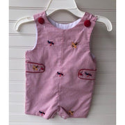Zuccini- Airplanes Embroidered Shortall w/Tabs