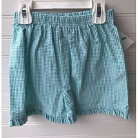 Zuccini- Palm Knit/Gingham Short Set