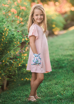 Mabel & Honey- Pretty in Flora Pink Dress